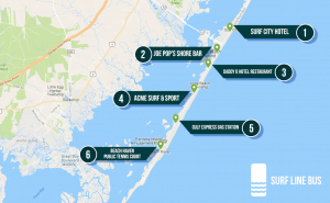 Surf Line Bus - direct bus from NYC to LBI